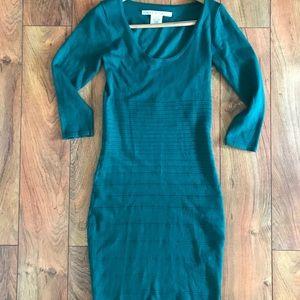 Green Bodycon Sweater Dress